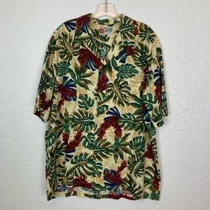 Hilo Hattie vintage Hawaiian shirt men's XL floral